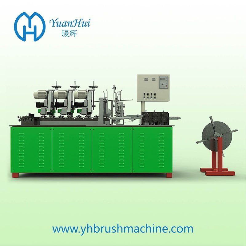 YuanHui 16 Roller Single Metal Back Strip Brush Making Machine