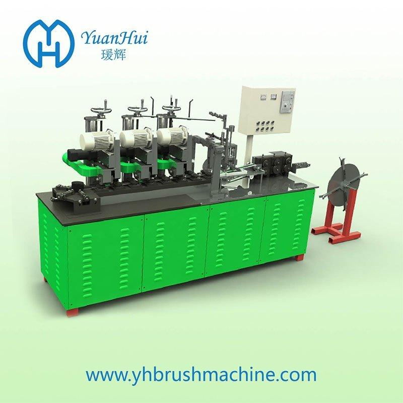 YuanHui 16 Roller Single Metal Back Strip Brush Making Machine