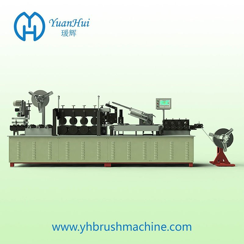 YuanHui Double Metal Band Strip Brush Making Machine
