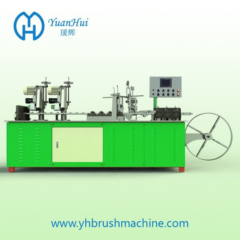 YuanHui 8 Roller Single Metal Back Strip Brush Making Machine