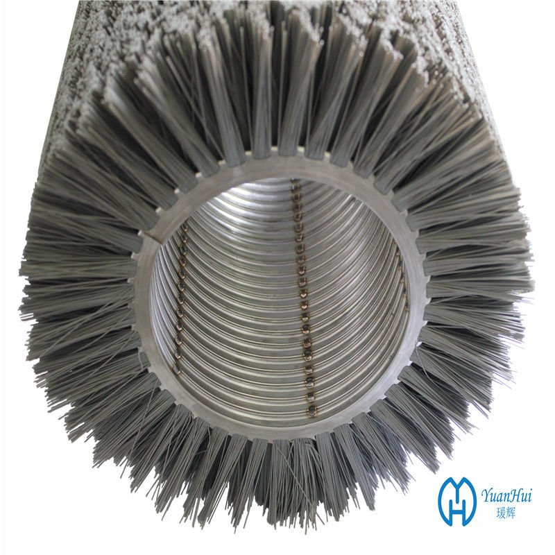 YuanHui Double Metal Band Cylinder Brush - Abrasive Filament Brush