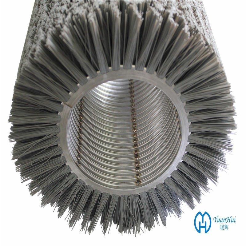 YuanHui Double Metal Band Cylinder Brush - Abrasive Filament Brush