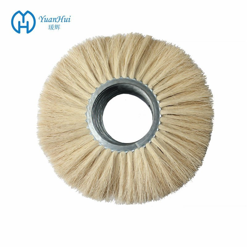 YuanHui Double Metal Band Cylinder Brush - Tampico Fiber Brush