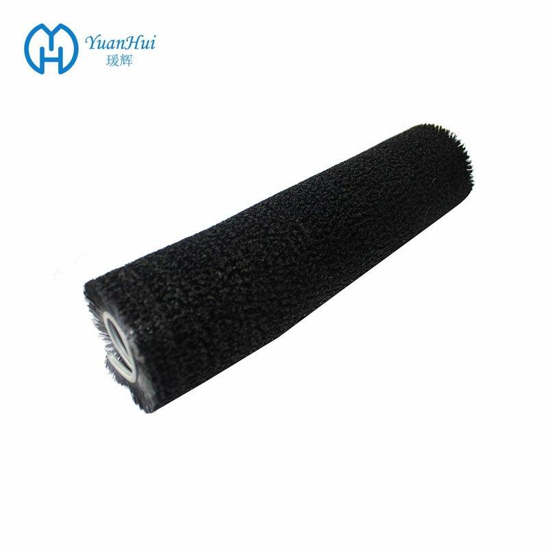 YuanHui Single Metal Back Cylinder Brush - Black Straight Plastic