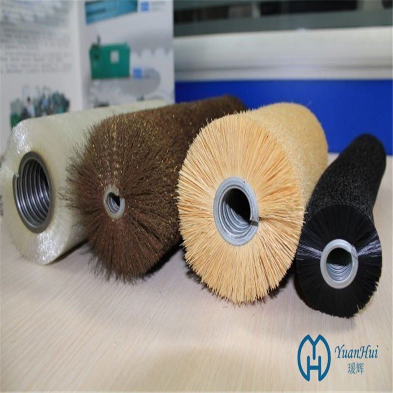 YuanHui Single Metal Band Cylinder Brush - Tampico Fiber Brush